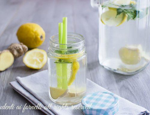 ACQUA DETOX limone e zenzero per DEPURARSI E DIMAGRIRE