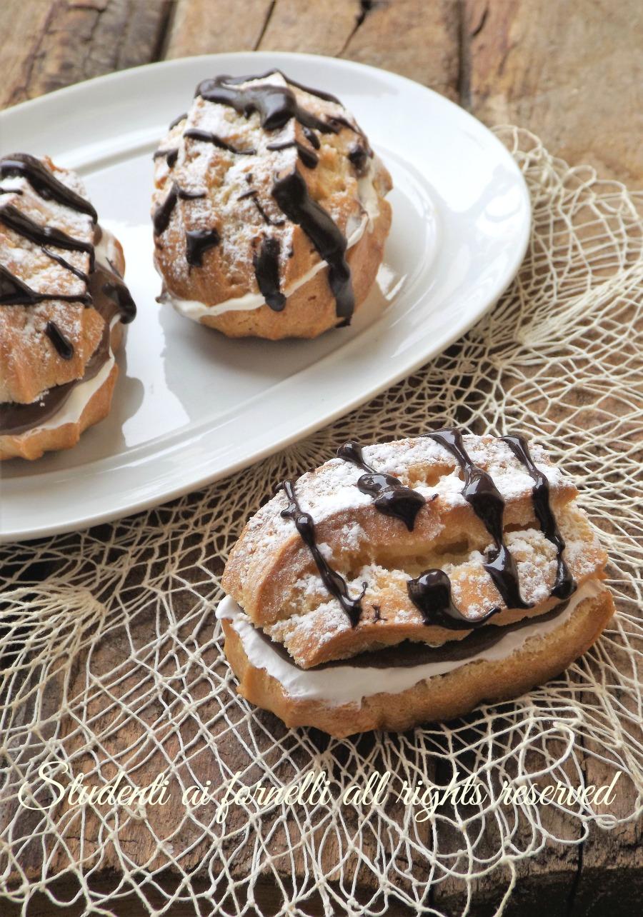 choux nutella e mascarpone ricetta dolce pasticceria facile bignè profiterols facile veloce