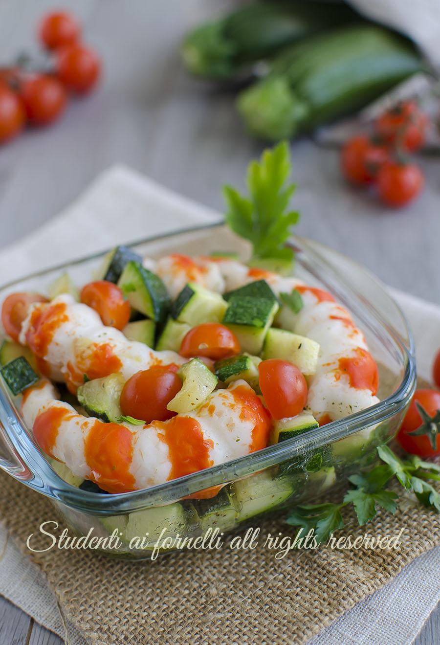 insalata gamberi zucchine facili e veloci ricetta secondo contorno pesce