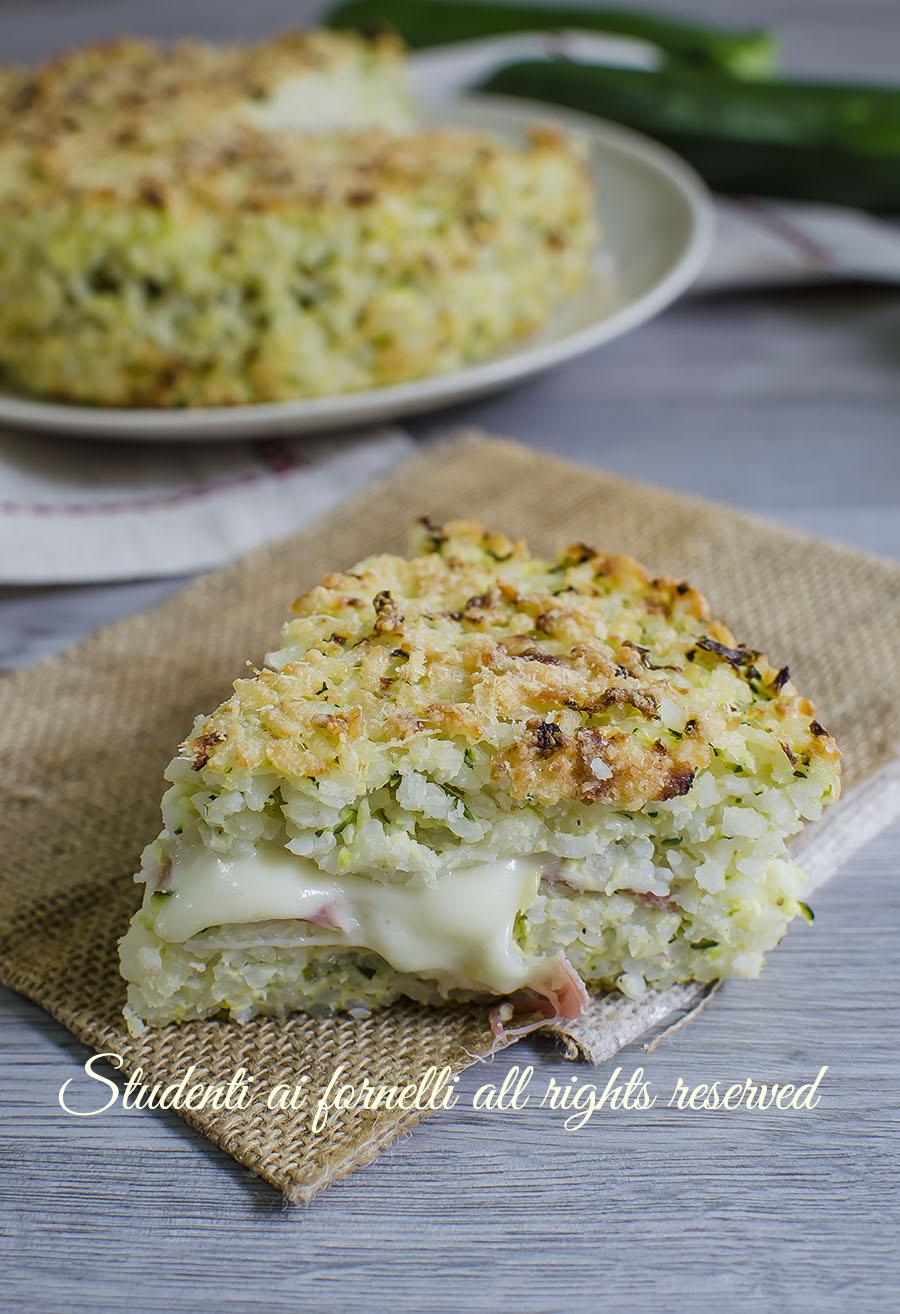 video torta di riso zucchine e prosciutto ricetta primo facile al forno gustoso mozzarella video ricetta