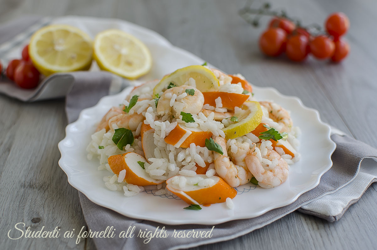 Exceptionnel RISO FREDDO GAMBERI E LIMONE ricetta insalata estiva BK77