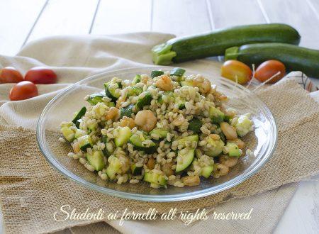 ORZO ZUCCHINE E GAMBERETTI insalata fredda