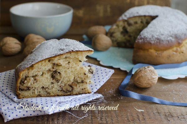torta ricotta e noci senza burro ricetta dolce facile veloce colazione