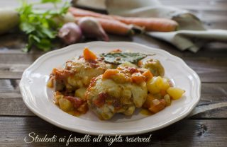 ricetta pollo in umido con verdure del brodo ricetta pollo tenero secondo