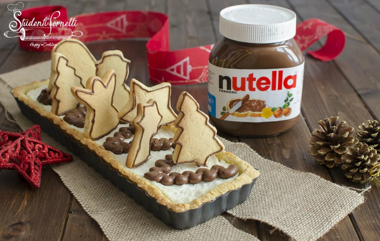 crostata natalizia alla nutella facile pasta frolla morbida ricetta natale dolce