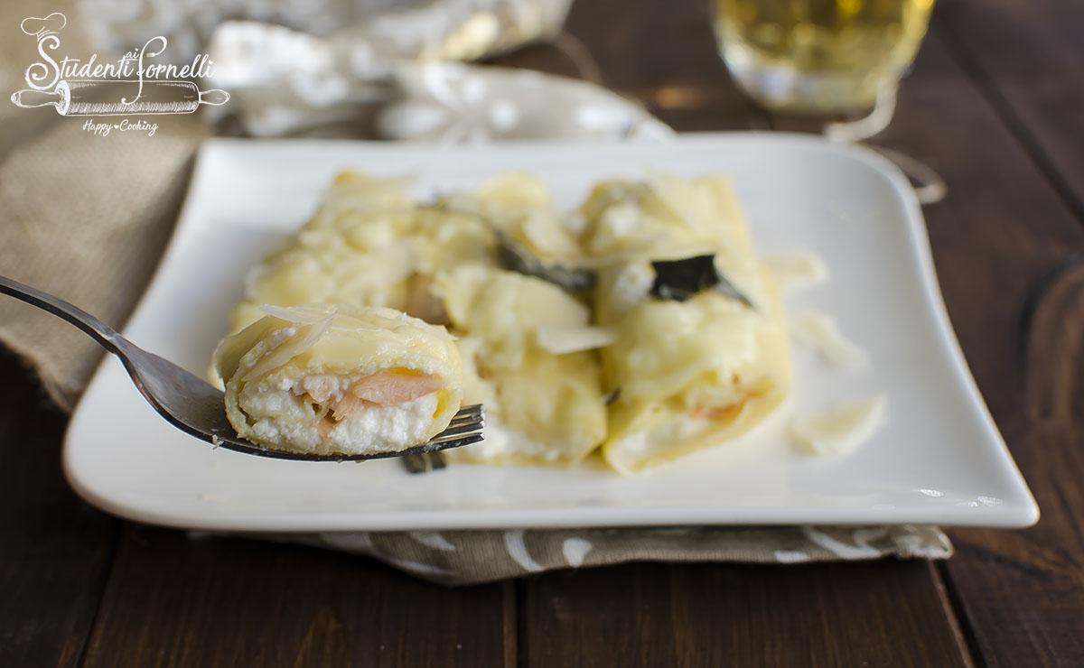 Ricetta crepes al salmone e ricotta