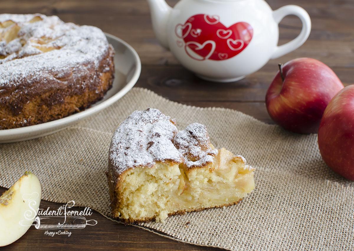 torta mele e latte caldo ricetta dolce facile veloce