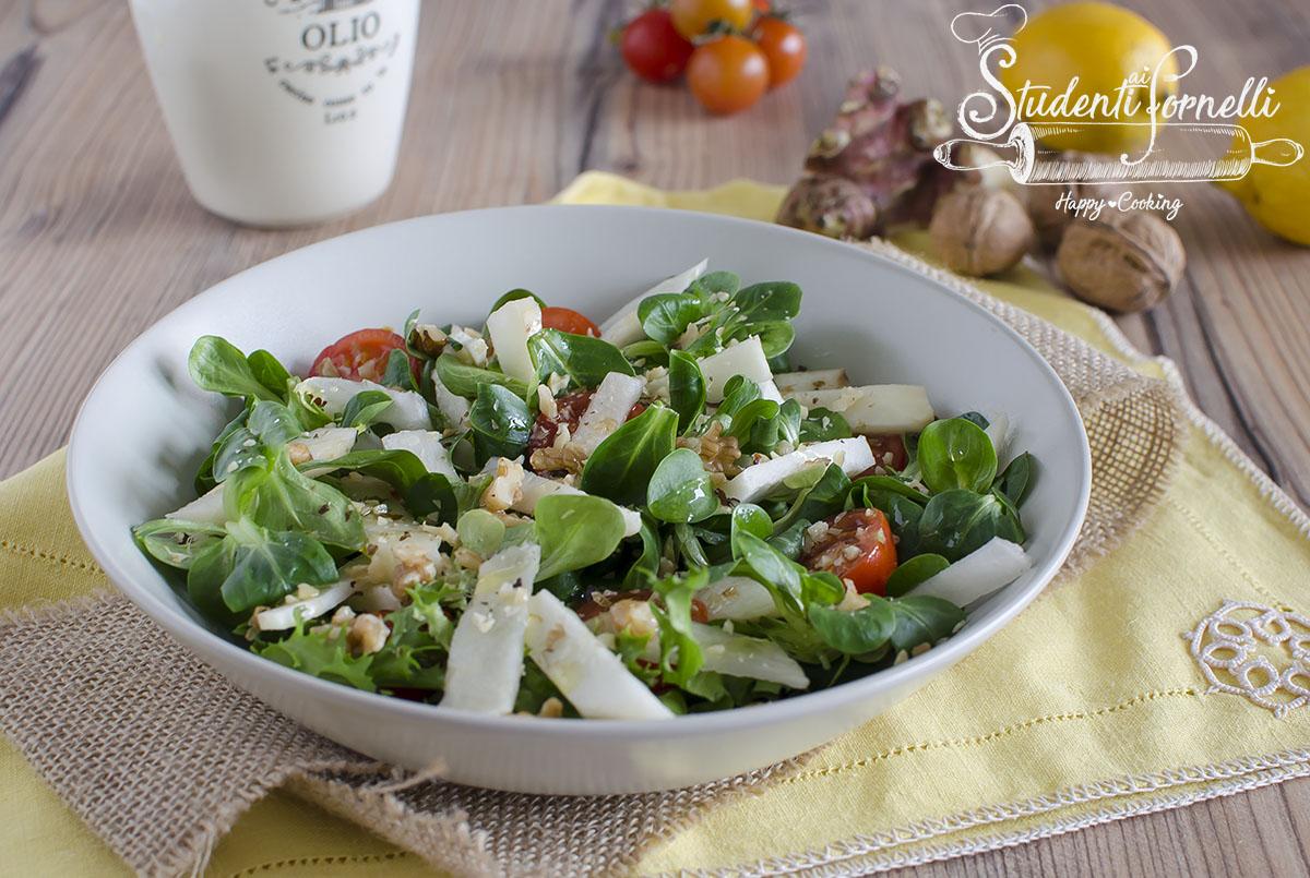 insalata di topinambur crudi noci ricetta come cucinare i topinambur
