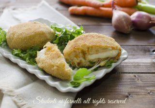 ricetta riciclo polpette di verdure e ricotta con formaggio filante al forno con verdure del brodo ricetta secondo vegetariano
