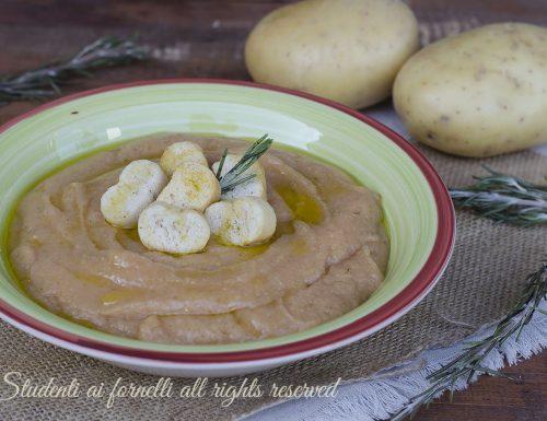 ZUPPA DI FAGIOLI e patate cremosa