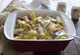 ricetta pasta al forno carciofi e speck ricetta primo piatto facile