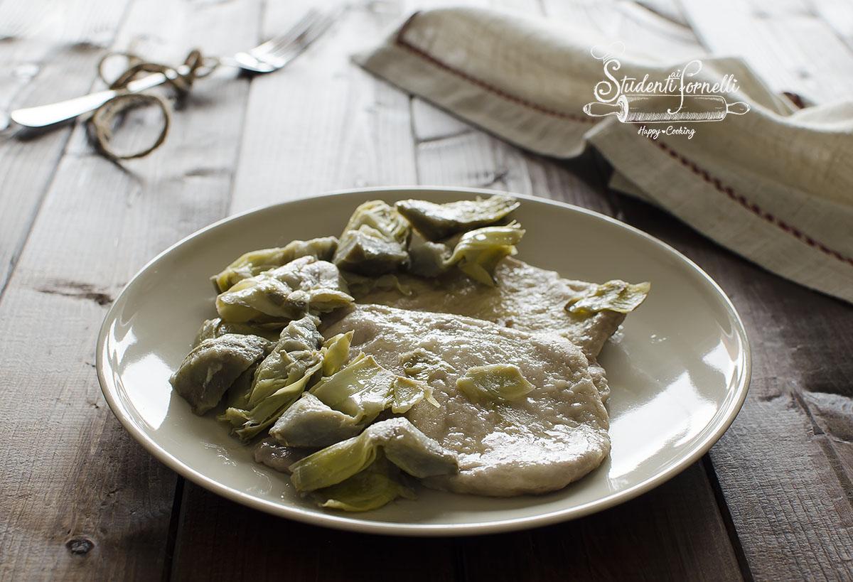 scaloppine ai carciofi tenere saporite ricetta secondo carne