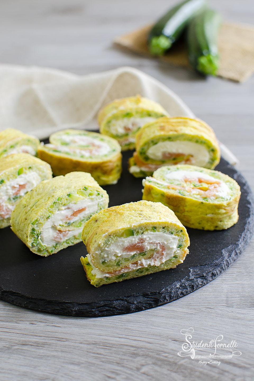 frittata di zucchine girelle di zucchine e salmone ricette
