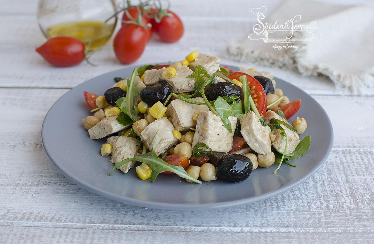insalata fantasia di pollo light ricetta estate veloce