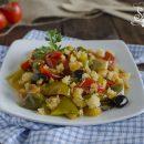 peperoni ammollicati peperoni con mollica croccante e olive senza frittura ricetta contorno veloce estate