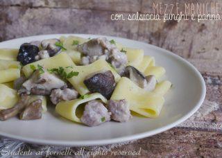 pasta salsiccia e funghi-e-panna-ricetta-primo-piatto-gustoso ricetta 2