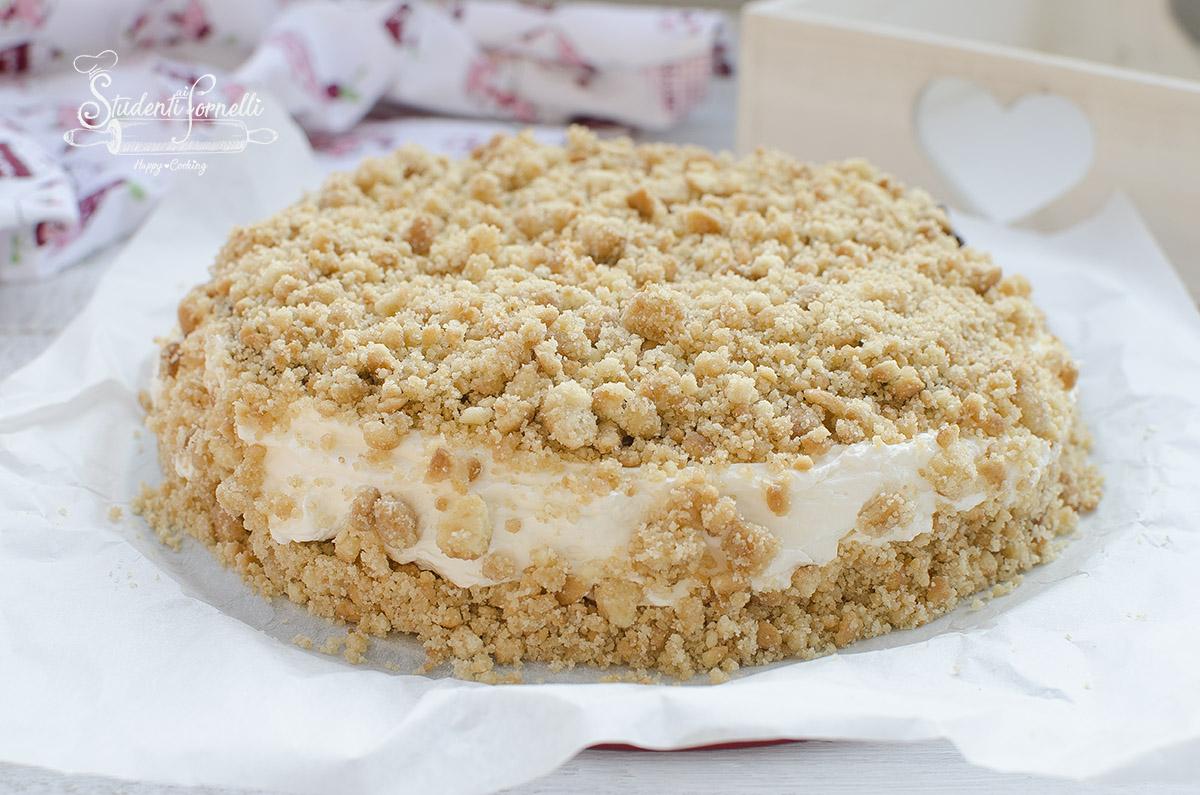 ricetta sbriciolata paradiso fredda cheesecake torta fredda ricetta senza cottura