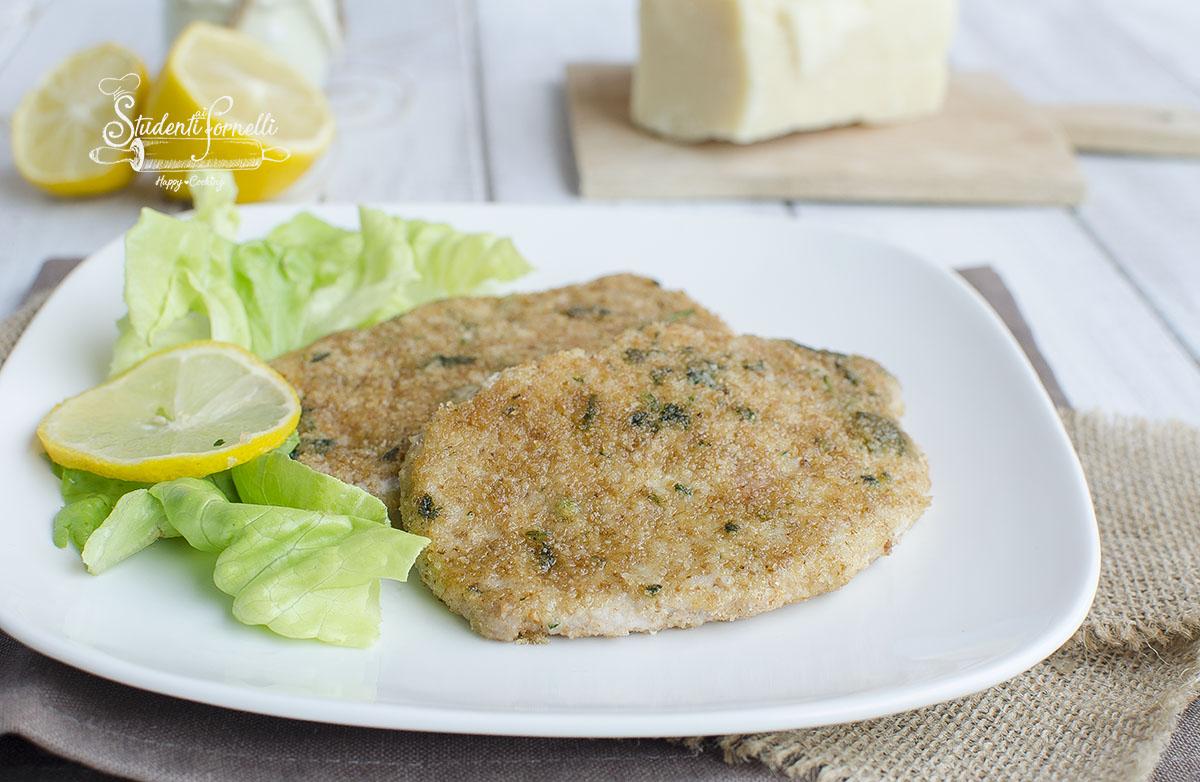 cotolette impanate in padella senza uova senza friggere e senza grassi leggere con impanatura al parmigiano secondo piatto ricetta