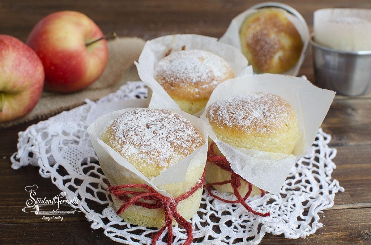 Ricetta Muffin Di Mele.Muffin Alle Mele E Yogurt Soffici Ricetta Con Mele Nell Impasto