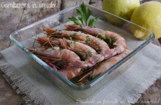 gamberoni in umido al forno 3 metodi di cottura forno padella e forno a microonde ricetta secondo di pesce-facile-e-veloce