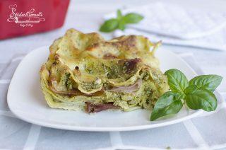 lasagne pesto e speck cremose ricetta primo piatto