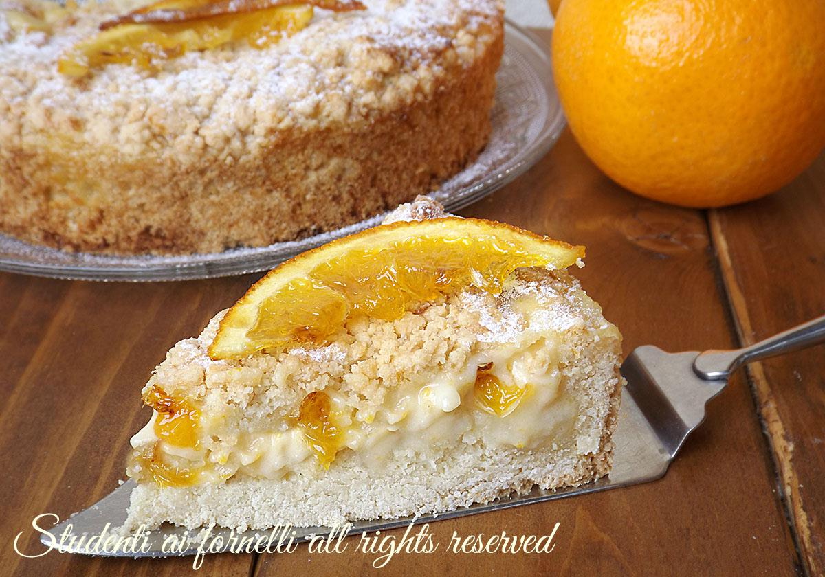 ricetta-facile sbriciolata alle arance con-crema-alle-arance-facile-e-golosa