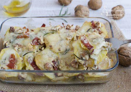 ricetta patate con gorgonzola speck noci al forno ricetta tortino sformato