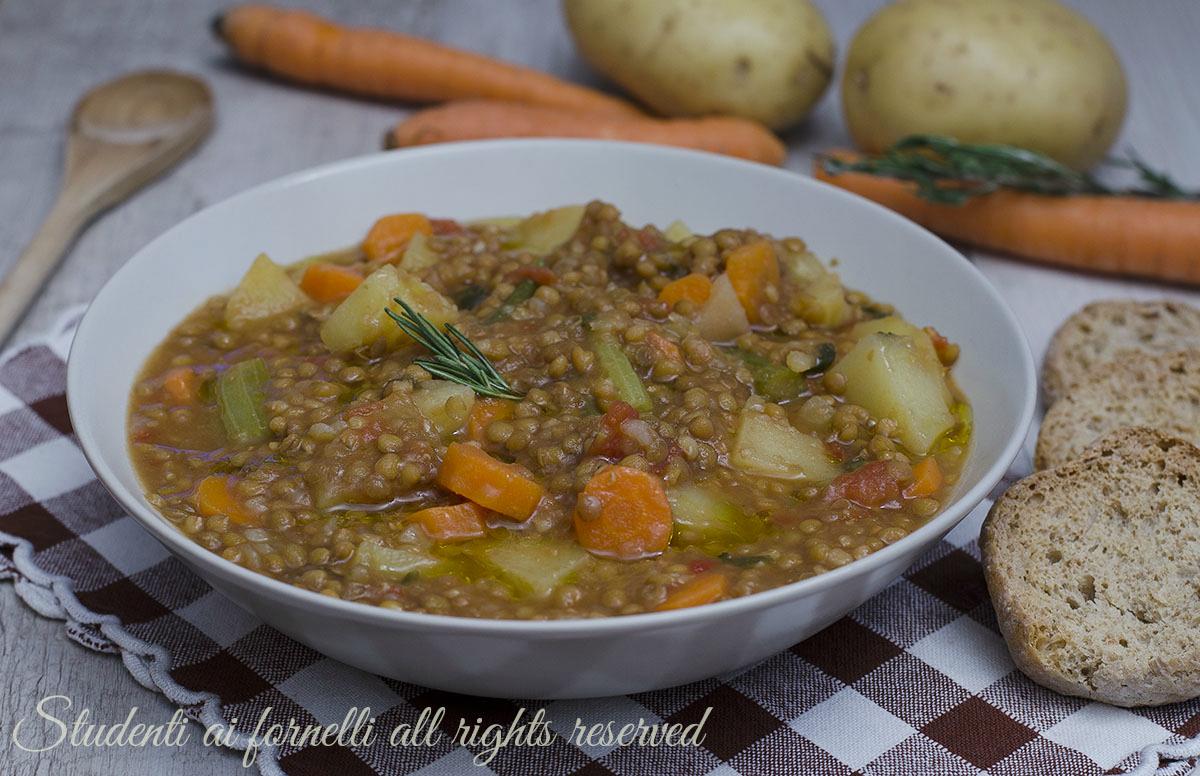 Zuppa Di Lenticchie E Patate Con Carote Ricetta Minestra Facile