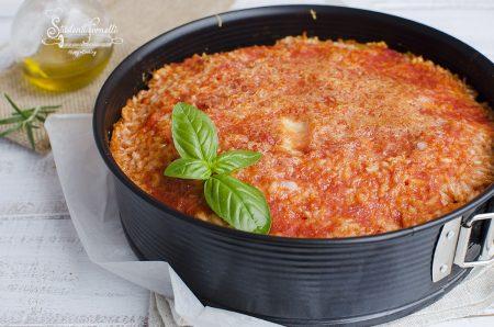 riso alla pizzaiola al forno ricetta primo piatto pomodoro mozzarella