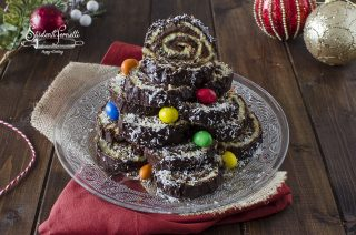 albero di girelle alla nutella natalizio di natale ricetta dolce