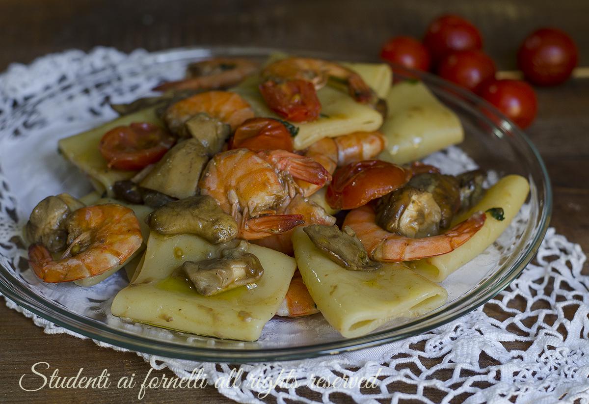 Pasta Gamberi E Funghi Porcini Cremosa Ricetta Piatto Di Pesce