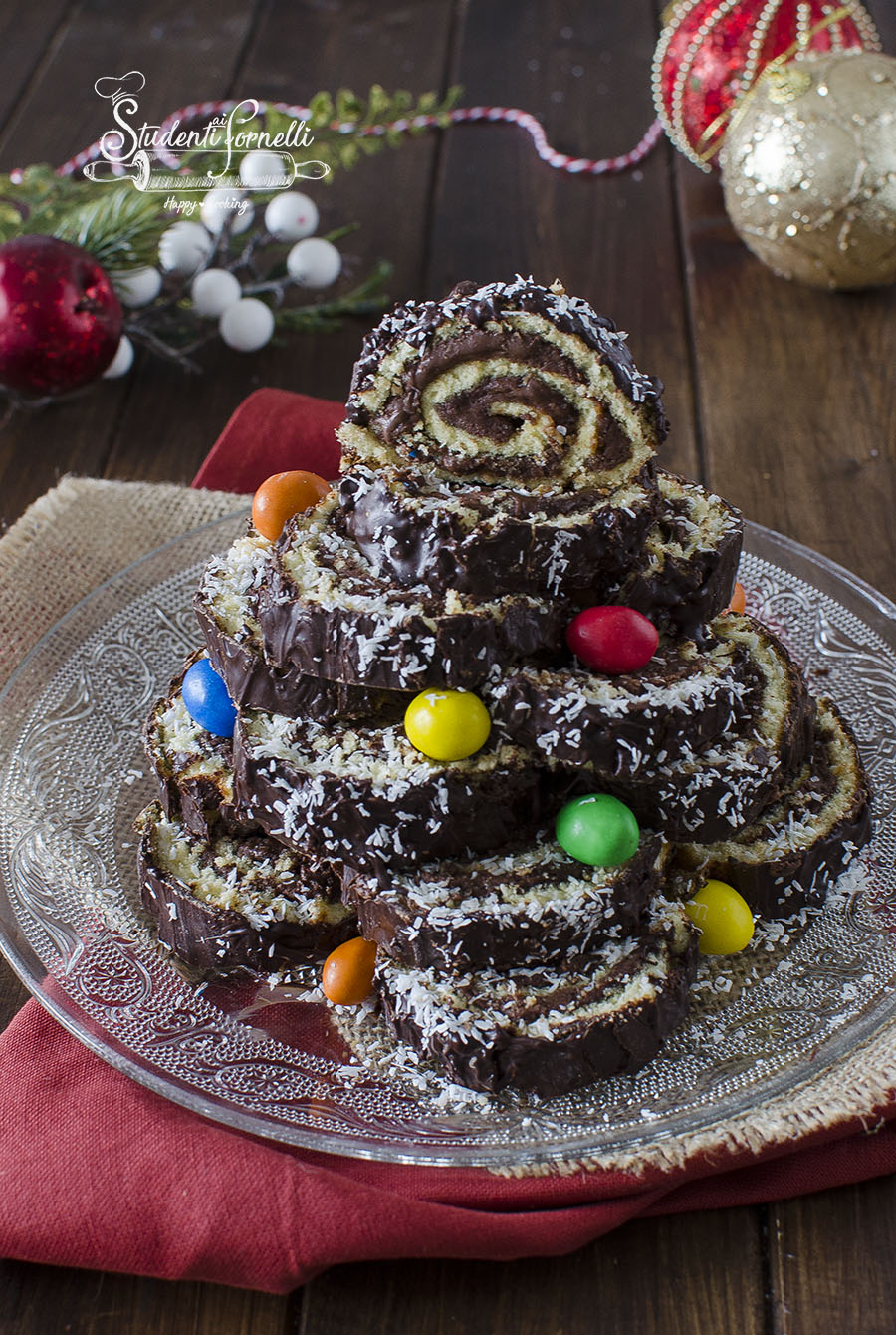 ricetta albero di girelle alla nutella natalizio di natale ricetta dolce