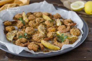 ricetta gamberi gratinati al forno ricetta secondo pesce