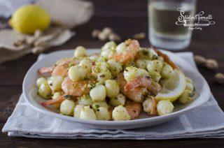 ricetta gnocchetti gnocchi con gamberi e pistacchi ricetta primo piatto pesce veloce