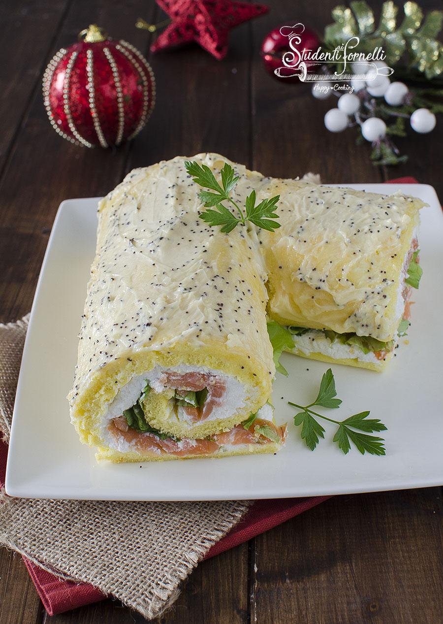 ricetta rotolo al salmone e ricotta salato tronchetto delle feste di natale salato farcito