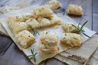ricetta rustichella al salmone gorgonzola ricetta rustico con pasta sfoglia con salmone