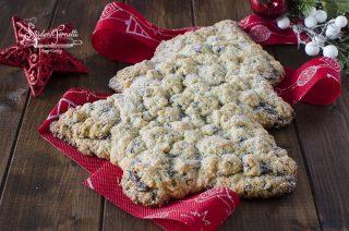 sbriciolata cookies natalizia albero di natale ricetta dolce di Natale da regalare
