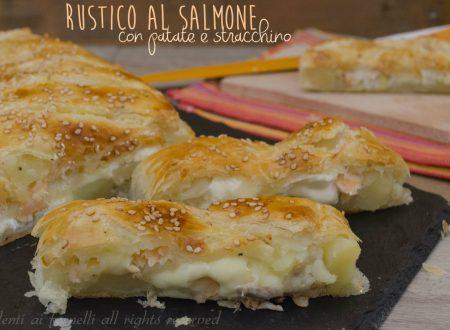 TORTA SALATA al SALMONE patate e stracchino