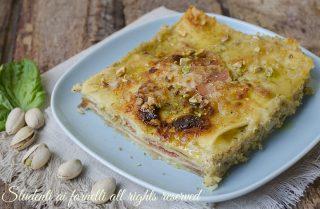 lasagne al pistacchio e speck formaggio-e-provola-ricetta-primo-con-pesto-di-pistacchi