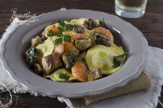 ravioli gamberi e funghi porcini ricetta primo