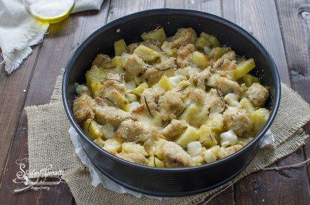 sbriciolata pollo e patate con scamorza ricetta secondo veloce