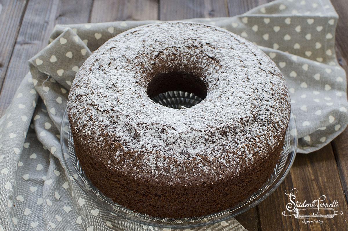 ciambella al cioccolato senza glutine senza farina con farina di riso dolce