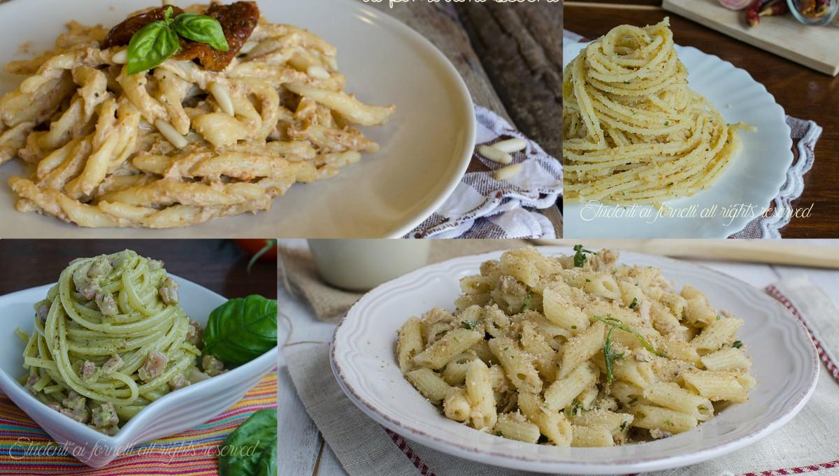 Primi piatti leggeri pronti in 20 minuti senza panna per for Ricette primi piatti pasta