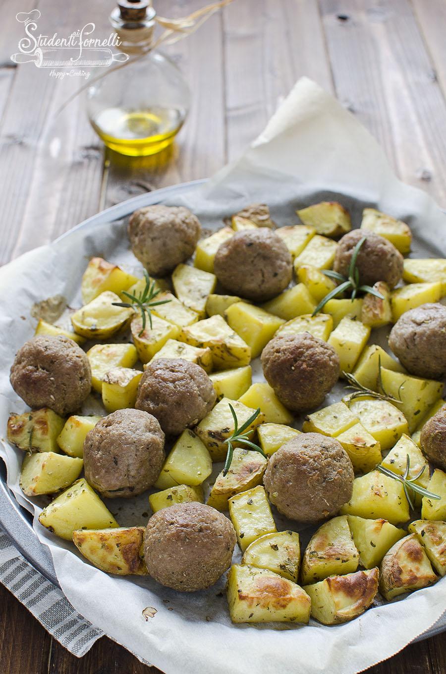polpette con patate al forno ricetta secondo