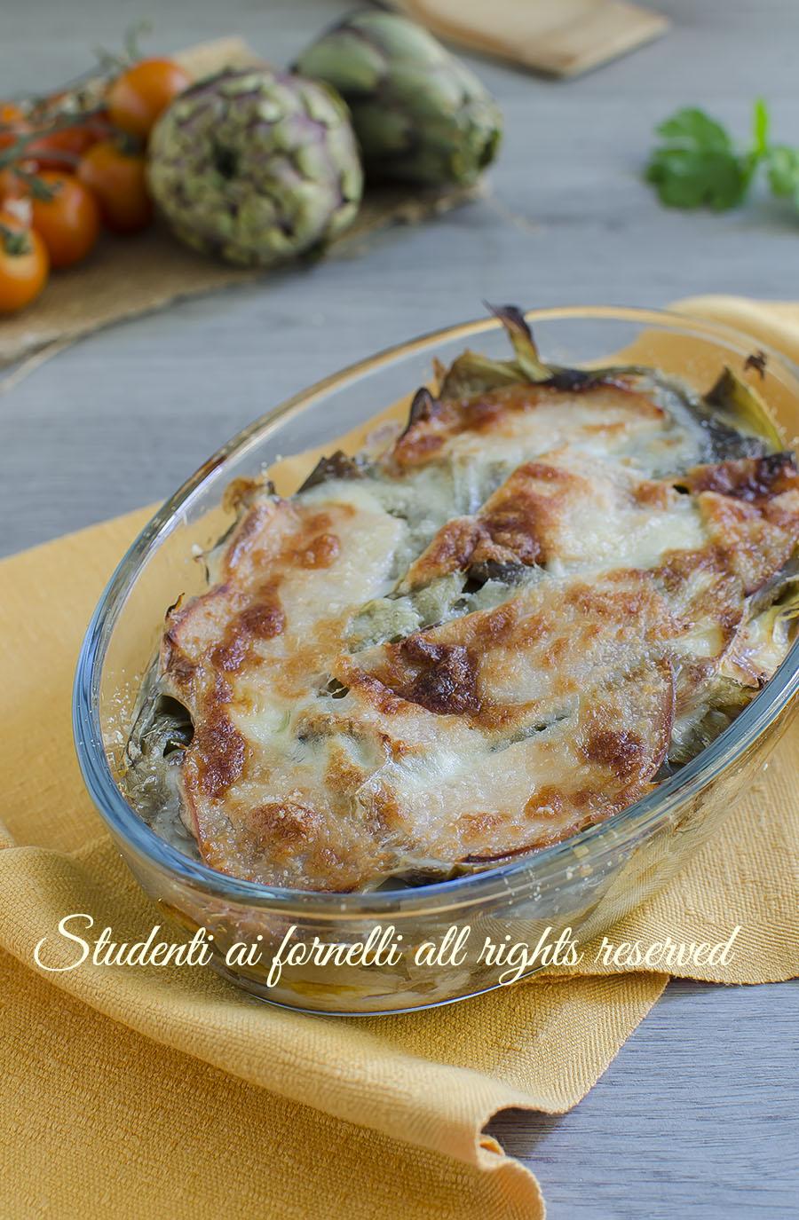 tortino di carciofi prosciutto e scamorza ricetta secondo facile veloce (1)