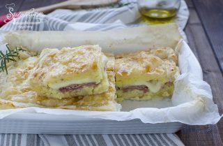 torta di patate in sfoglia prosciutto e scamorza ricetta secondo pasta sfoglia con patate