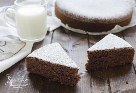 torta panna e cacao cioccolato 3 bicchieri senza burro e senza latte ricetta dolce