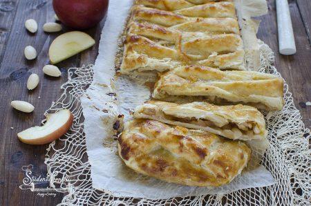 ricetta strudel di pasta sfoglia alle mele e arance ricetta dolce veloce
