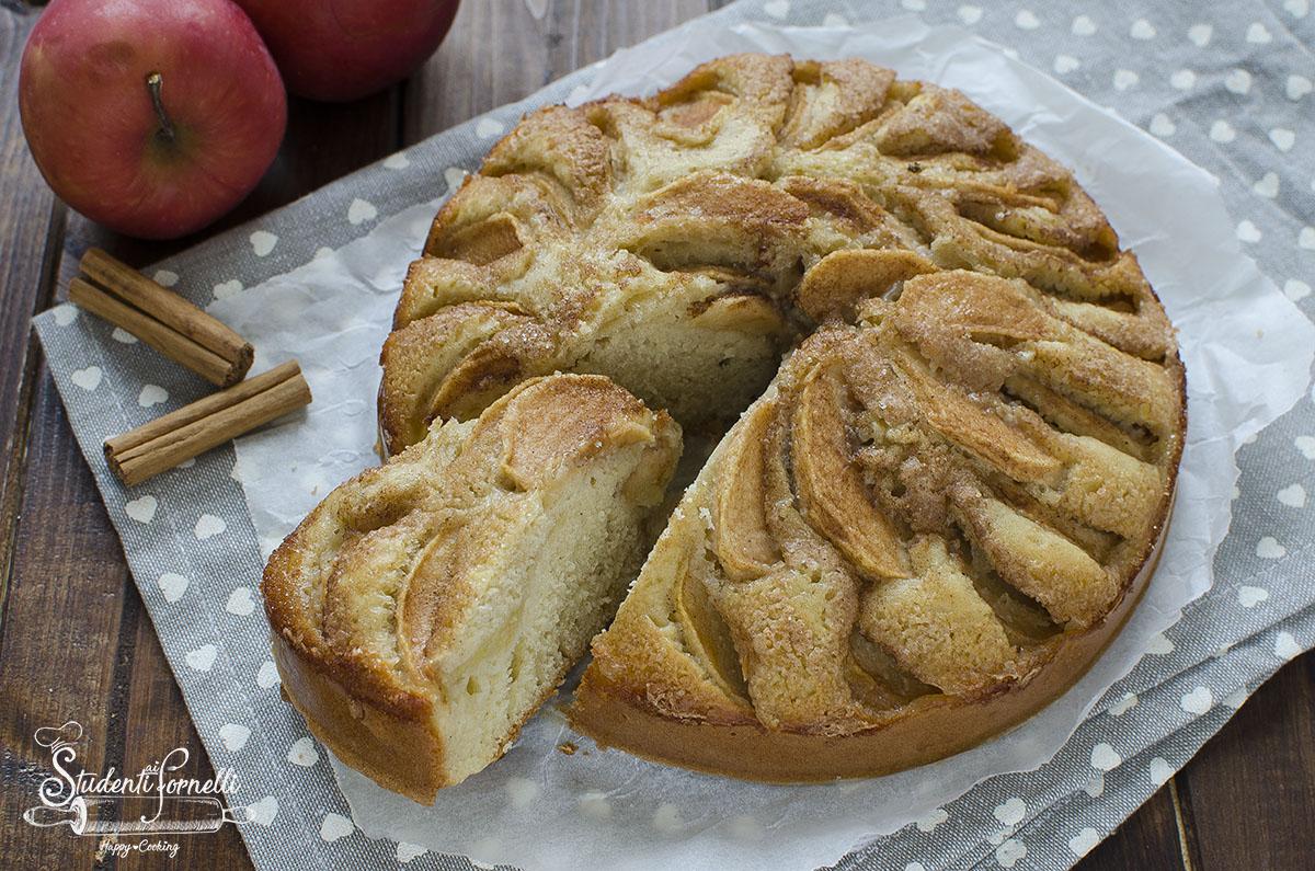 ricetta torta di mele light senza burro dolce poco calorico per dieta