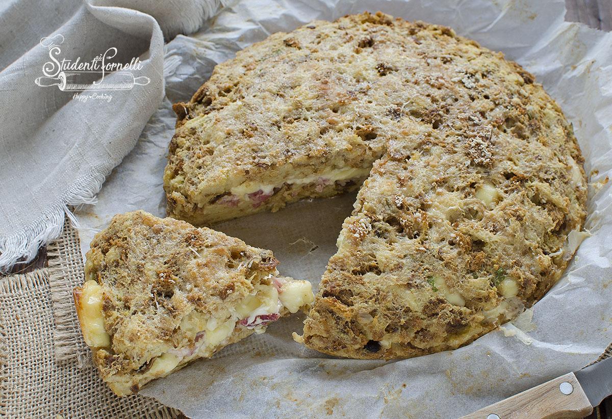 ricetta torta di pane speck e scamorza ricetta con pane raffermo